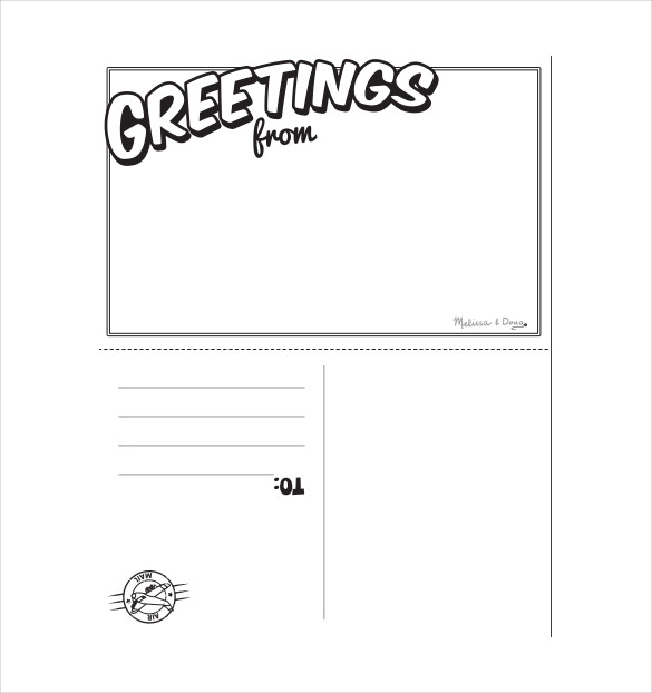 postcard template for children Melo.in tandem.co