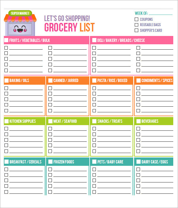 word grocery list template Melo.in tandem.co