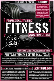 Fitness Poster Templates | PosterMyWall