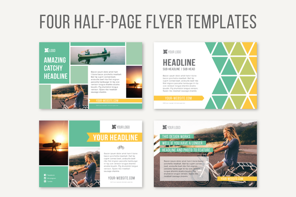 Half Page Flyer Template 24 Of Hand Style Design Inside Pages