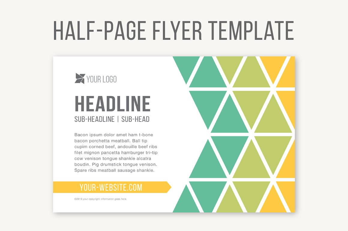 Half Page Flyer Template ~ Templates ~ Creative Market