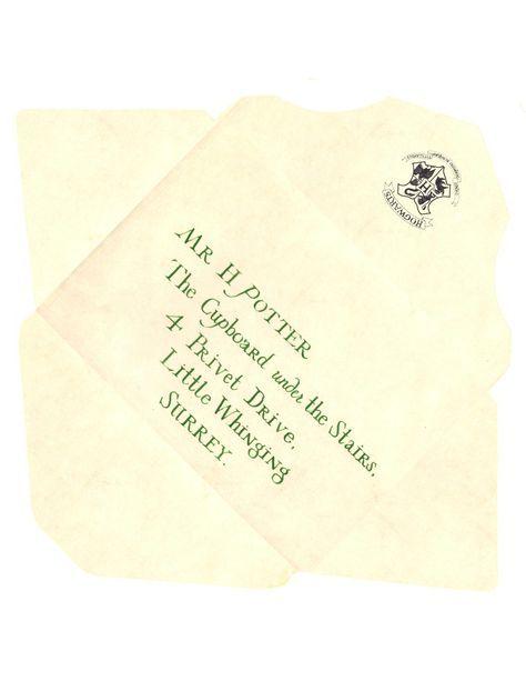 harry potter envelope template | Hogwarts Acceptance Letter