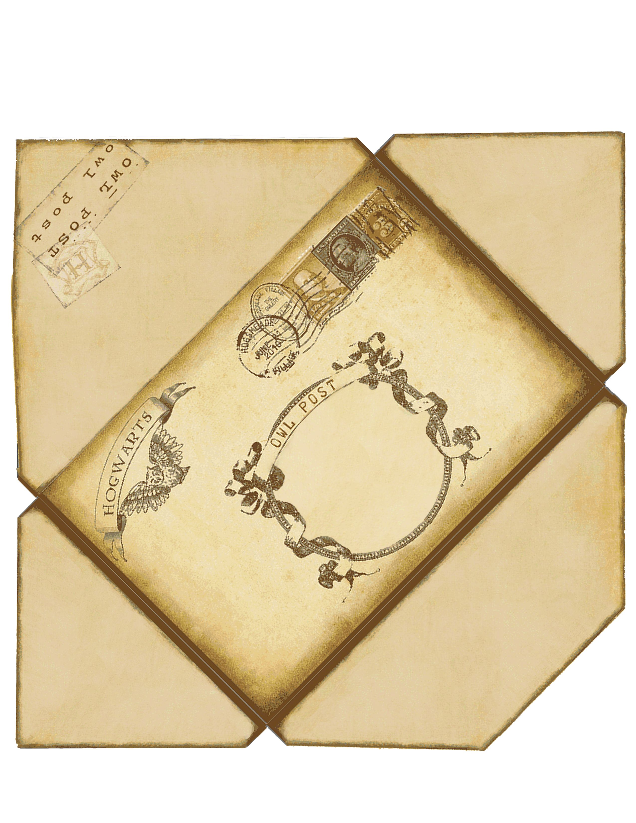 Harry Potter Envelope. If printed on 8 1/2 x 11 this will fit a 8