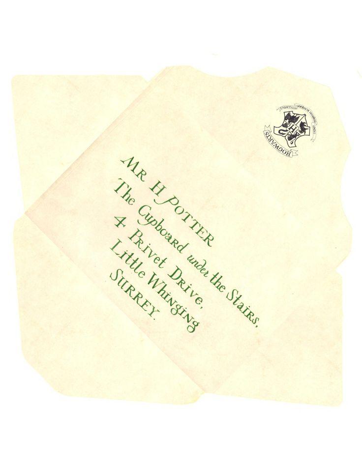 Harry Potter Acceptance Envelope Template 1 – reinadela selva
