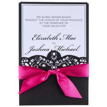 hobby lobby invitations wedding hot pink black laser cut wedding