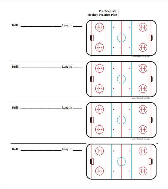Practice Schedule Templates Free Sample Example Popular Hockey