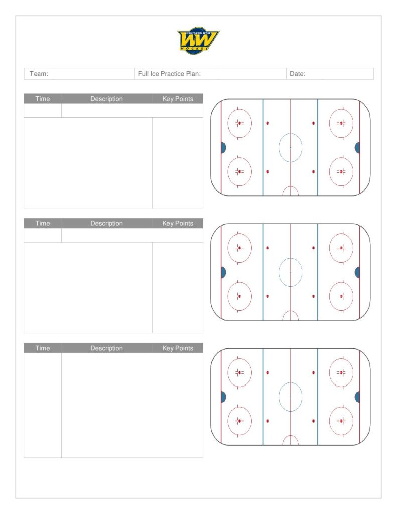 Coach's Manual and Practice Plan Templates – Whitemud West Hockey