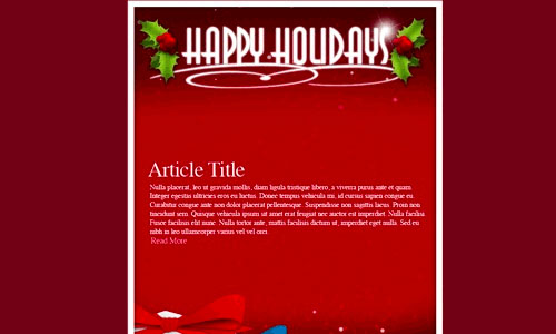 Holiday Email Template – 18+ Free , PSD Format Download   Free