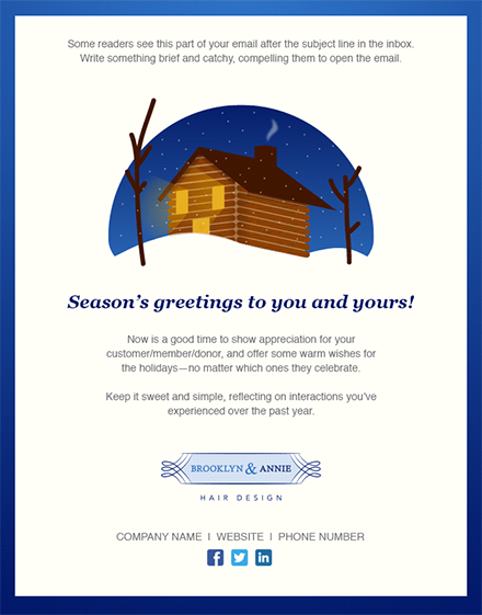 holiday e mail template Melo.in tandem.co