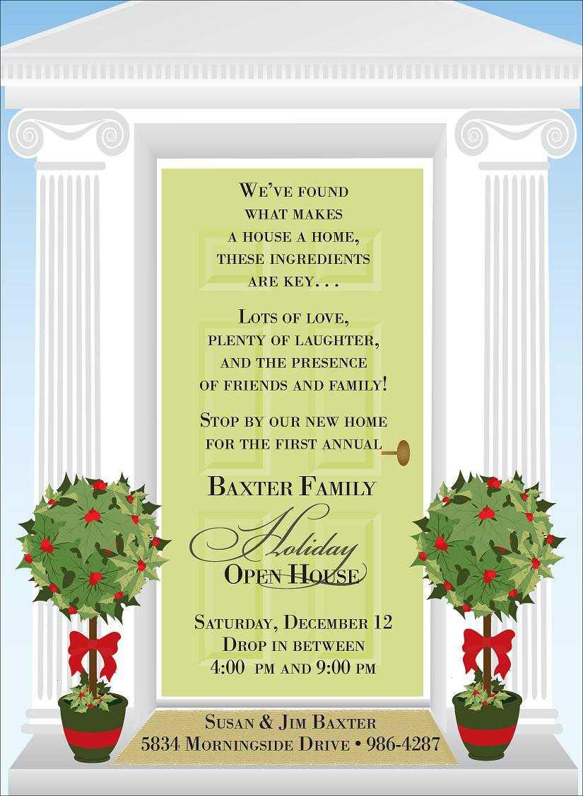 Christmas Open House Invitations Christmas Open House