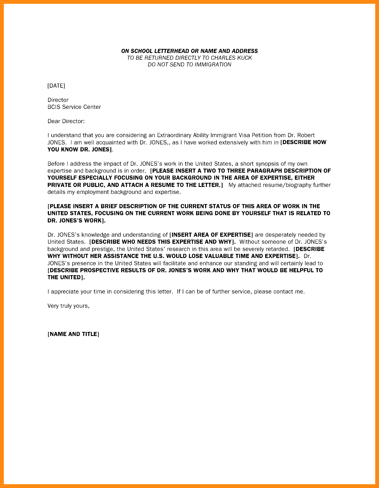 letter of recommendation for immigration of a friend sample Melo