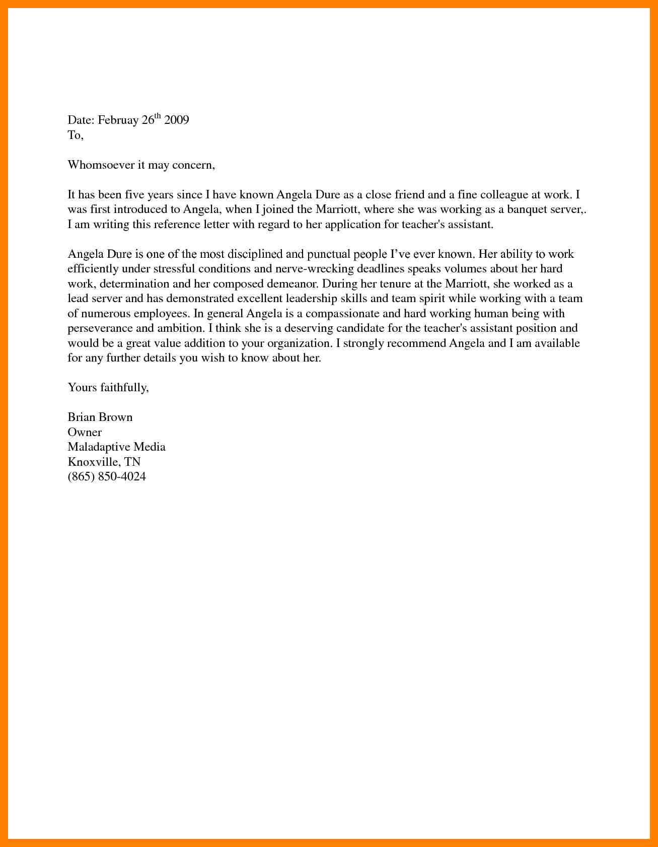 10+ immigration letter of recommendation for family   emt resume