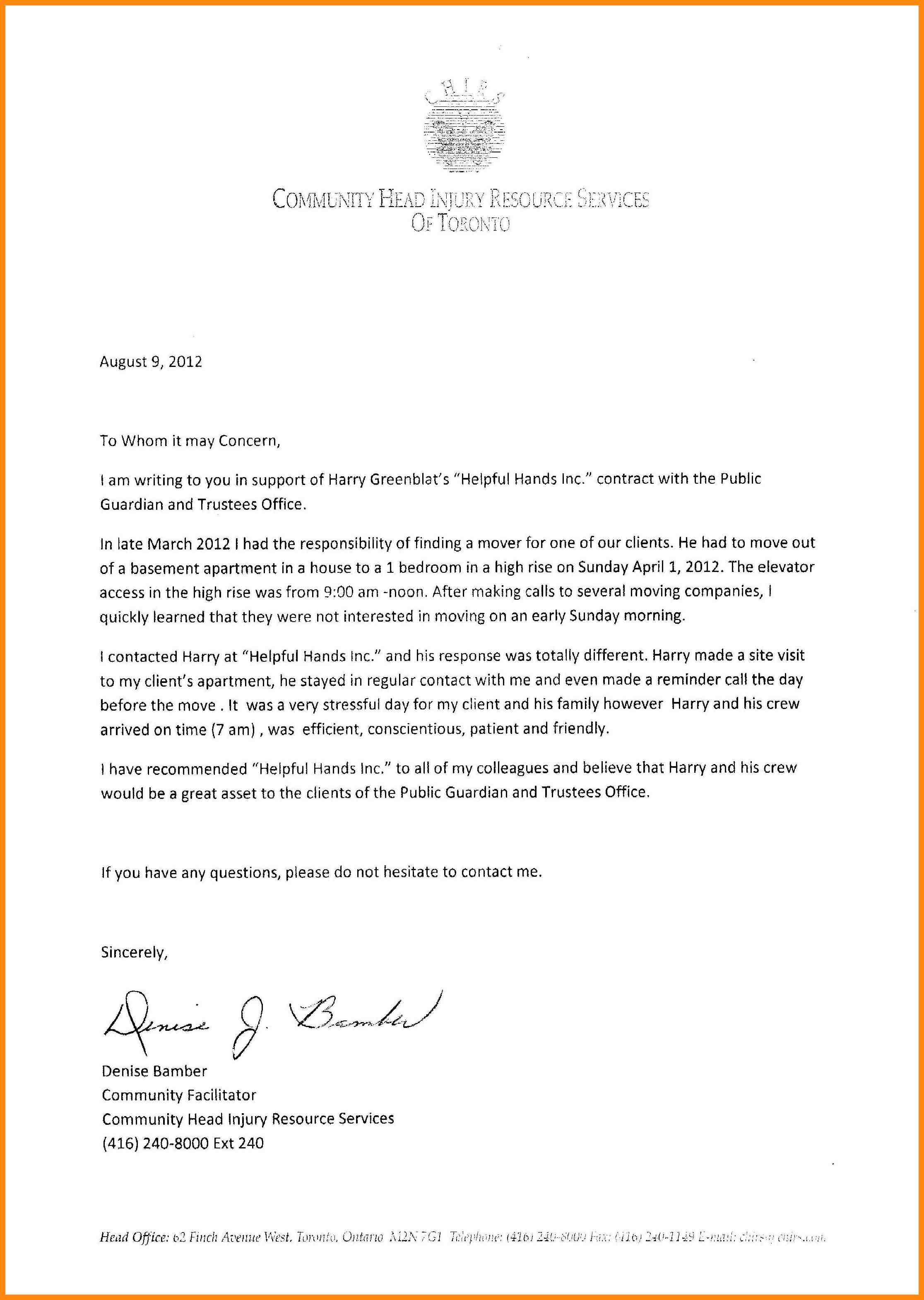 7+ immigration letter of recommendation for family | manager resume