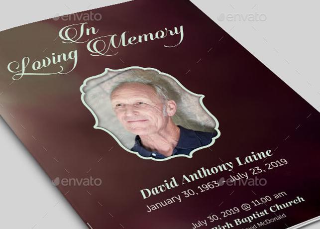 In Loving Memory Funeral Program Template | Inspiks Market