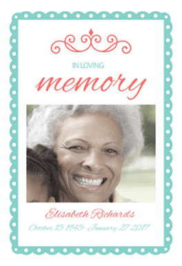 In Loving Memory Free Memorial Card Template | Greetings Island