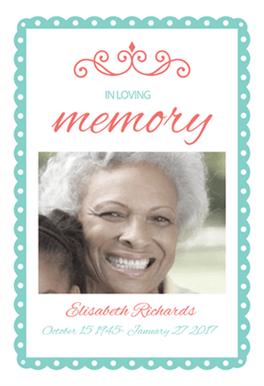 In Loving Memory Free Memorial Card Template | Greetings Island