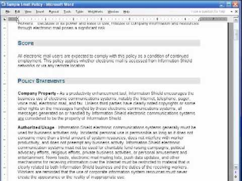 information security policy template for small business how to