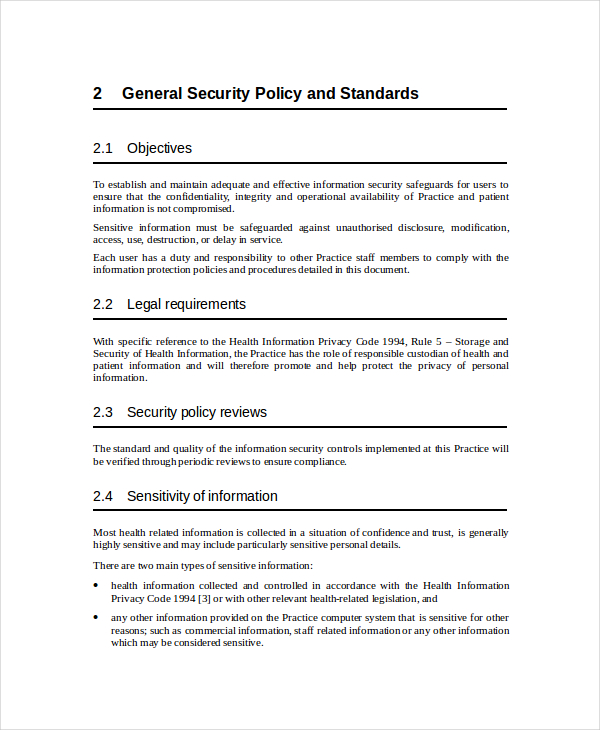 information security policy template security policy template 7