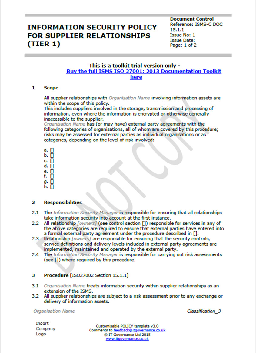 ISO 27001 documents: Overcoming your writer's block – IT