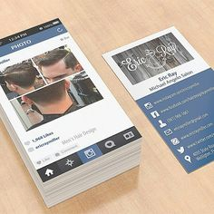 instagram business card google Instagram Business Card Template