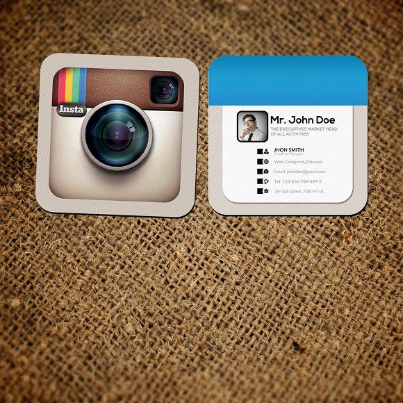 Instagram ocial Card Template ~ Business Card Templates ~ Creative