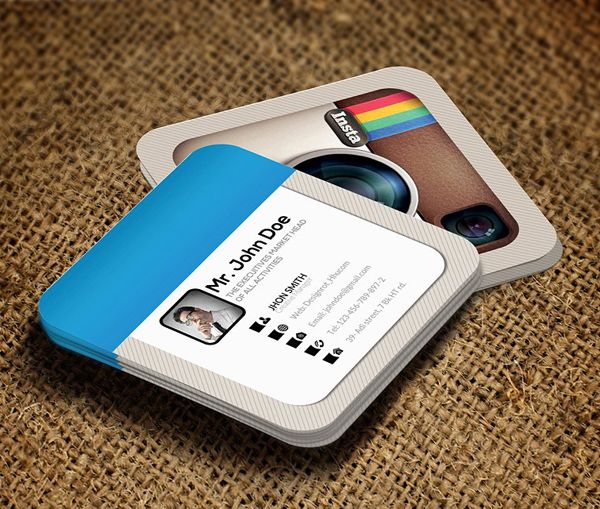 Creative Instagram Social Business Card Template | Business Cards