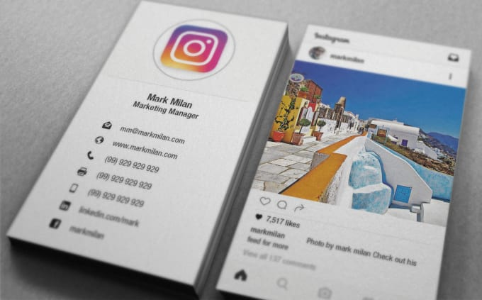 Turn your instagram into a business card by S_hammad