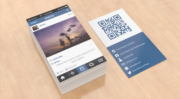 instagram business cards Melo.in tandem.co