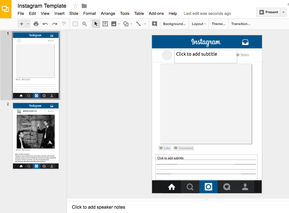 Free Instagram Template | Classroom Creations | Pinterest | Free