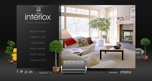 interior design web template Melo.in tandem.co