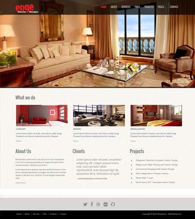 45+ Best Interior Design Website Templates