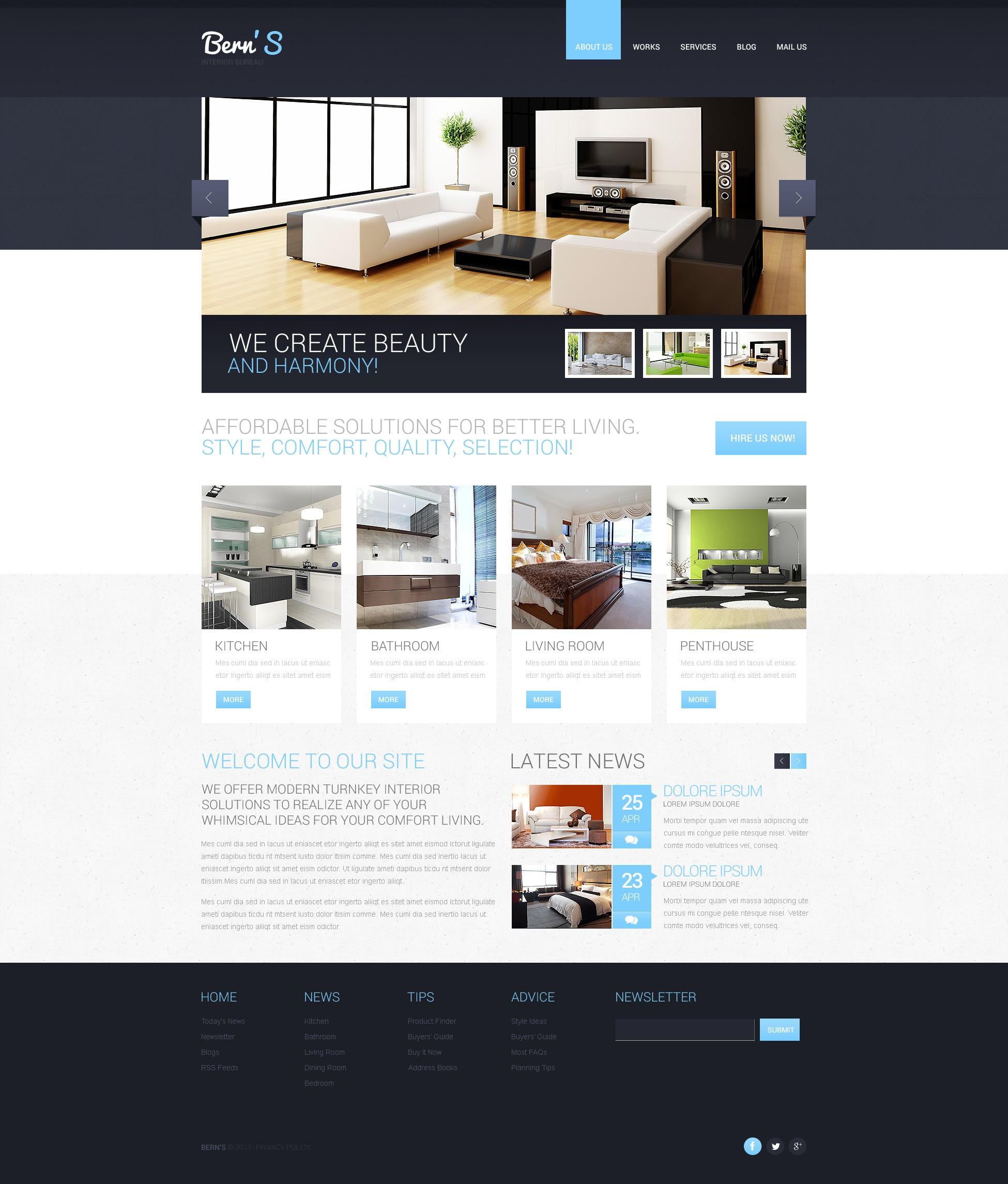 Interior Design Websites Templates R45 In Wow Design Style with
