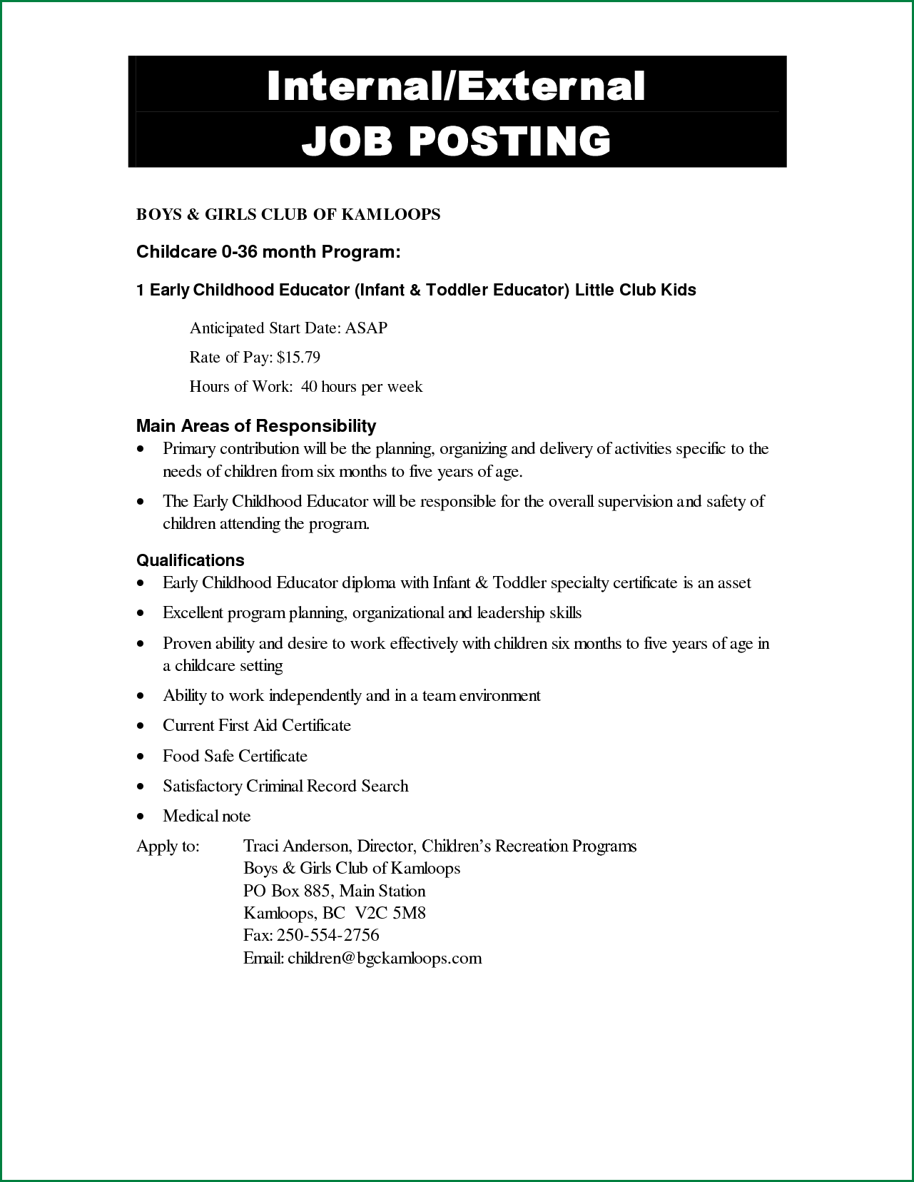 job posting template Melo.in tandem.co