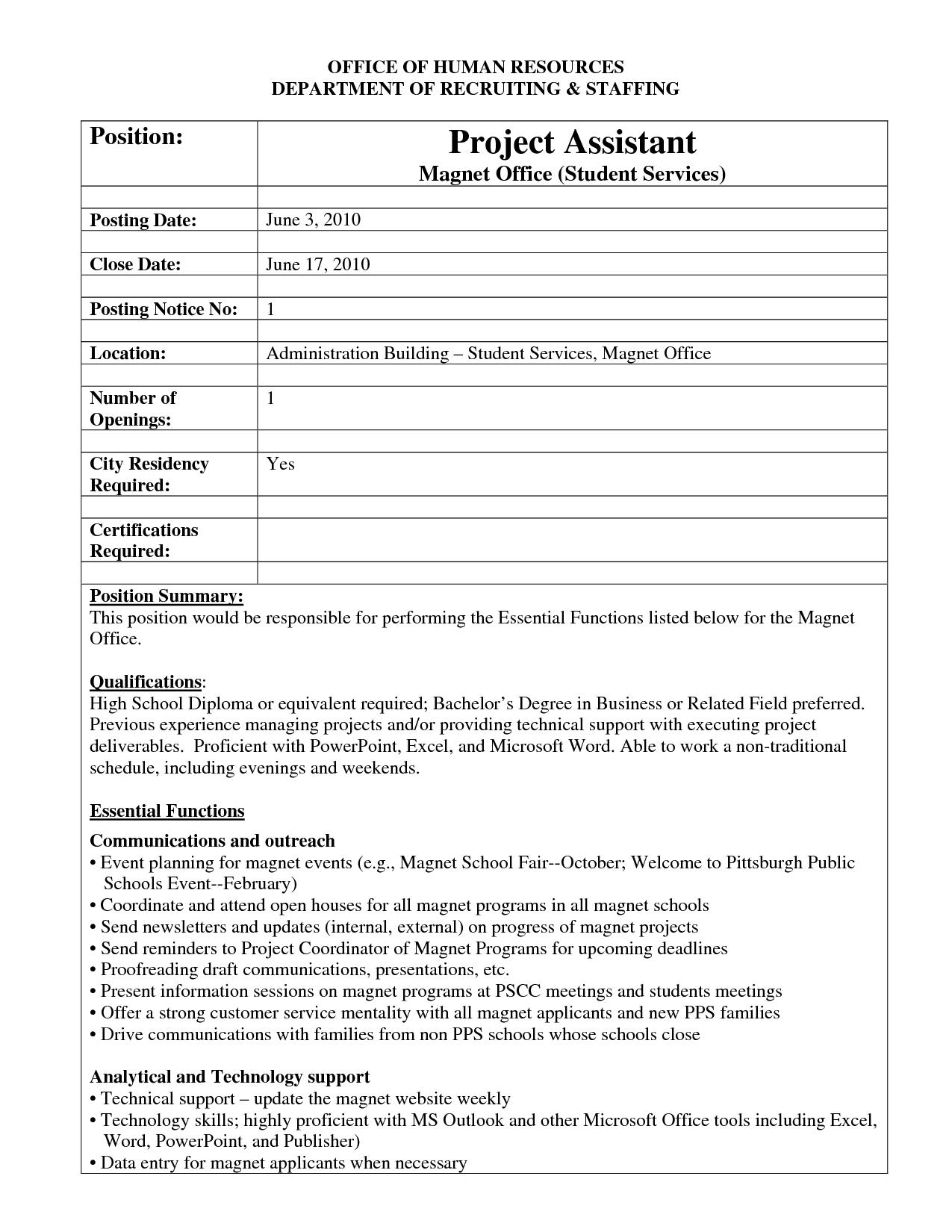 internal job posting template
