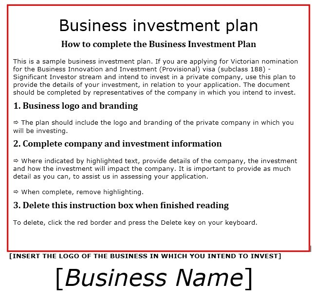 Investment plan sample practical plus financial example users 100