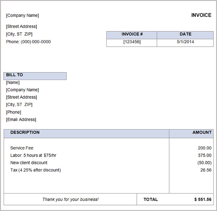 invoice template docx 28 free basic invoice templates free premium