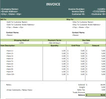 Proforma Invoice Template XLS Format , Free Invoice Template