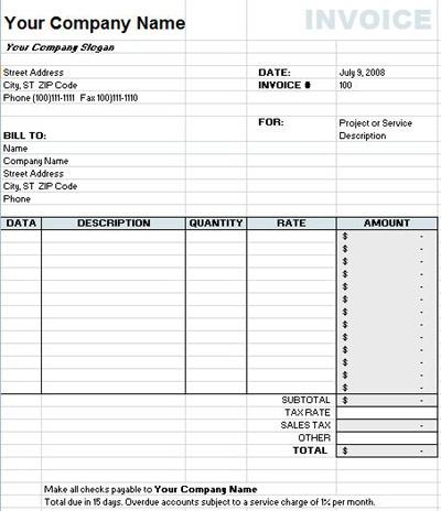 Xls Invoice Template Xls Invoice Template Xls Invoice Template