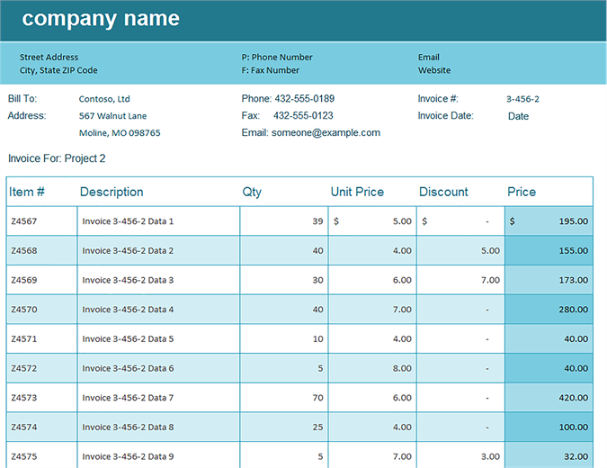 Invoice Tracking Template Excel | merrychristmaswishes.info