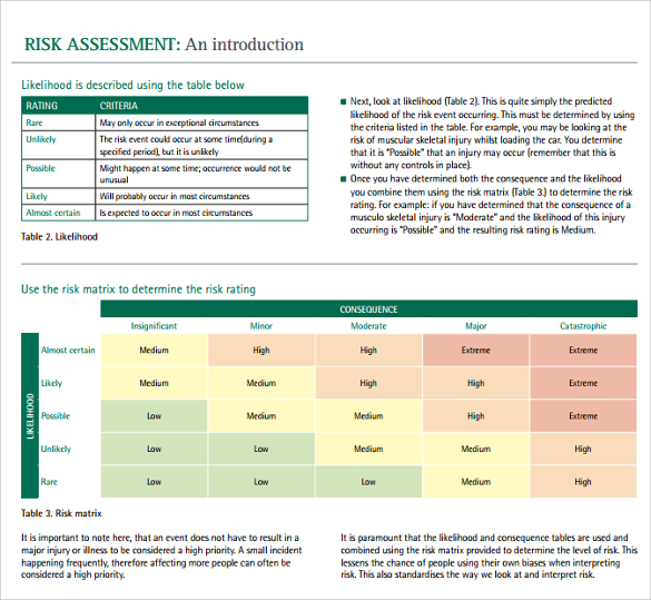 12+ Sample IT Risk Assessment Templates | Sample Templates