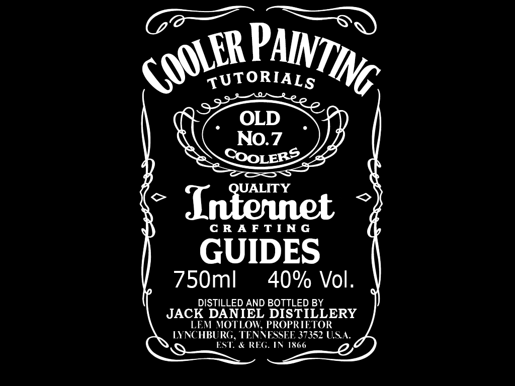 Custom Jack Daniel's Template. Cooler Painting Ideas Tutorial