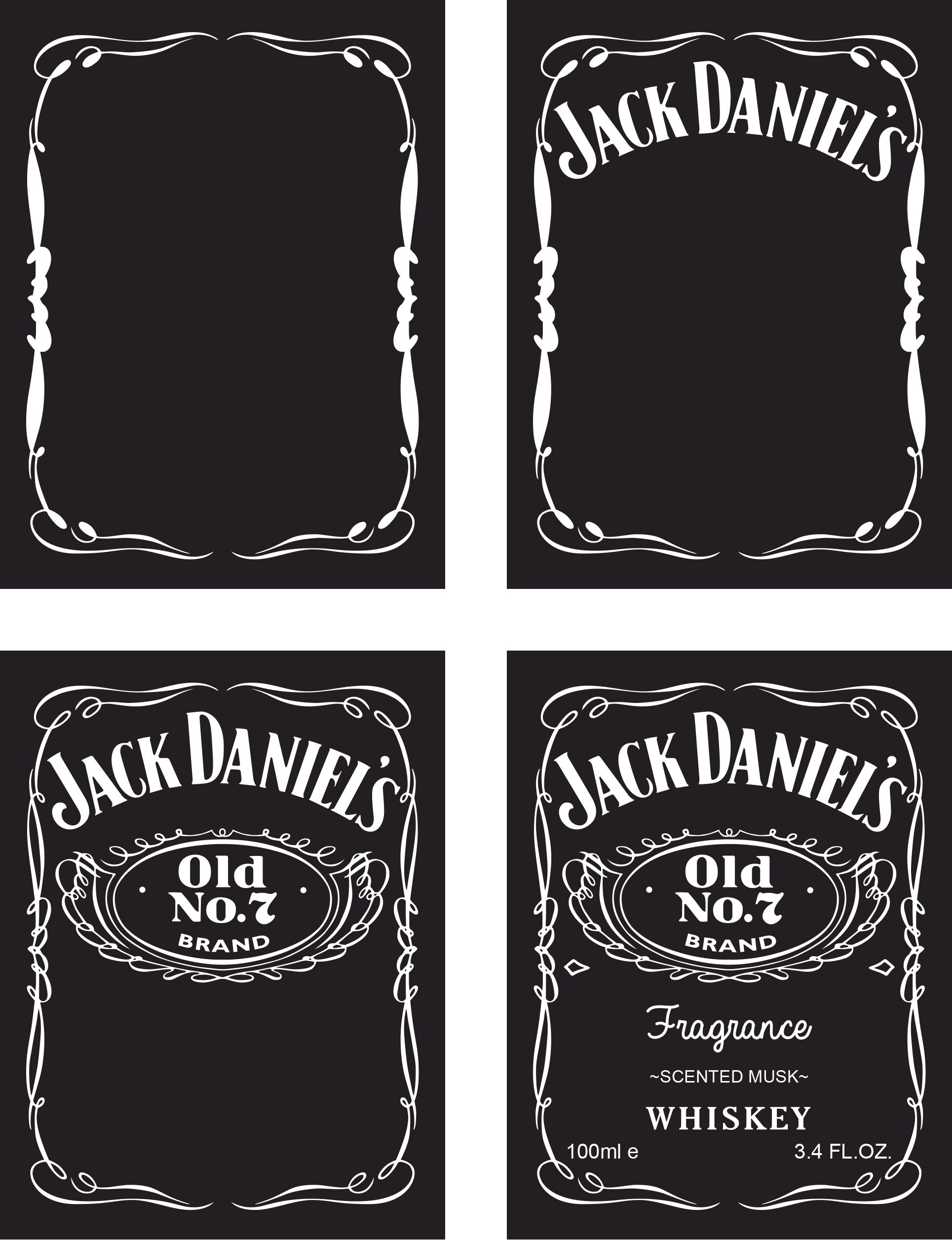 Jack Daniels Label Template | Best Business Template