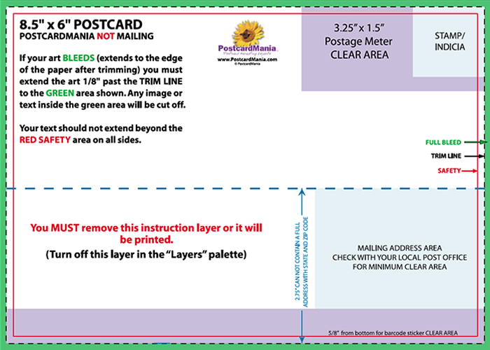 Postcard Design and Mailing Free Templates | 4×6; 5×7; 6×11