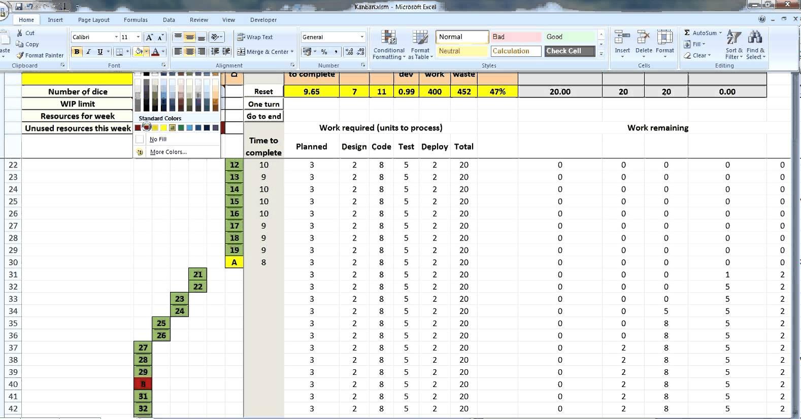 Kanban Excel Template   shatterlion.info