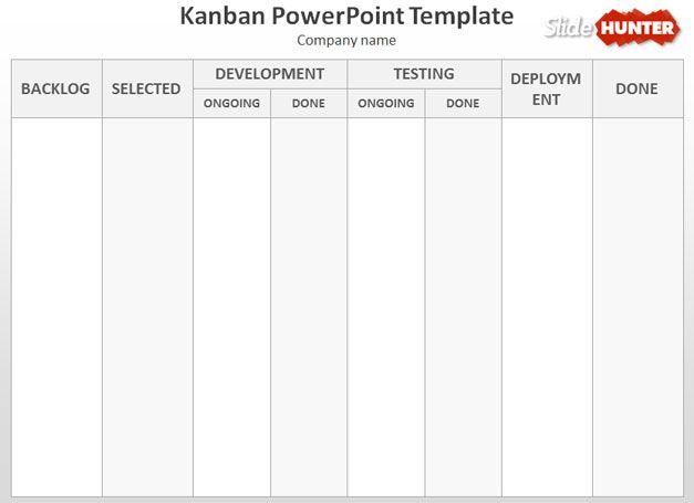 Free Kanban PowerPoint Template