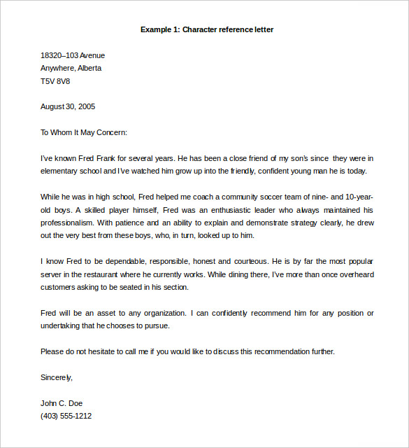 free letter of recommendation template word Melo.in tandem.co