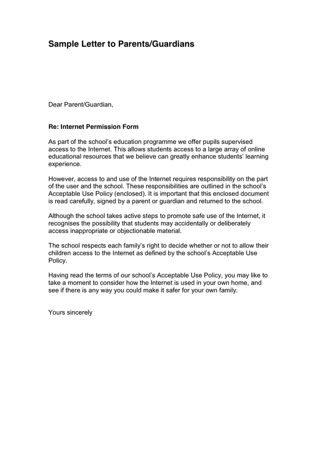 8+ Parent Letter Templates Free Sample, Example Format Download