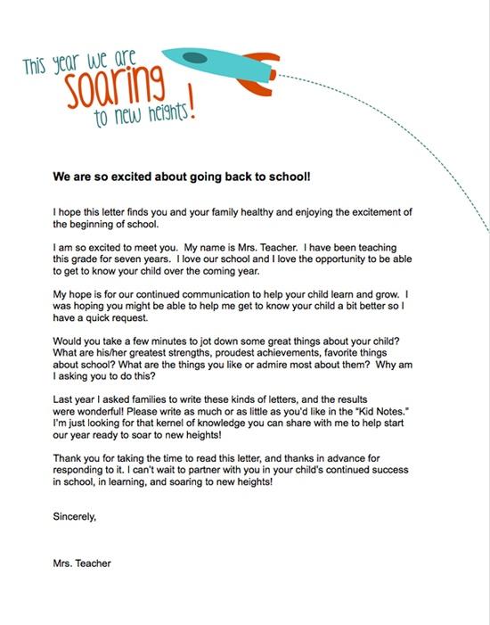 teacher introduction letter template teachers letter to parents