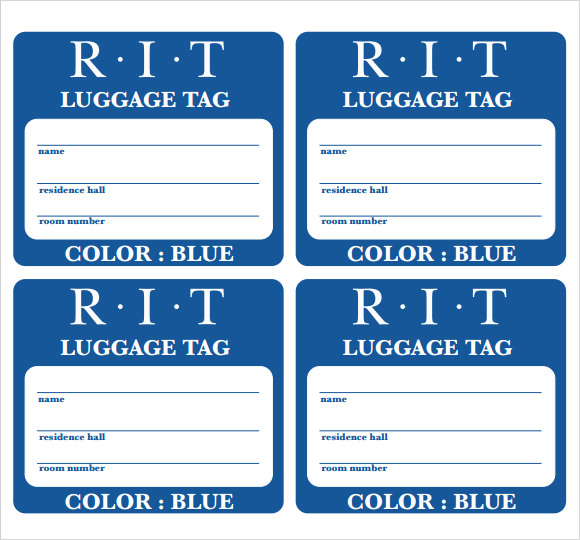 tag template (word and pdf formats available) | Templates