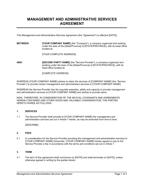 it managed services agreement template managed services agreement